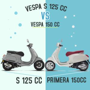 Perbedaan VESPA S 125CC vs PRIMERA 150CC